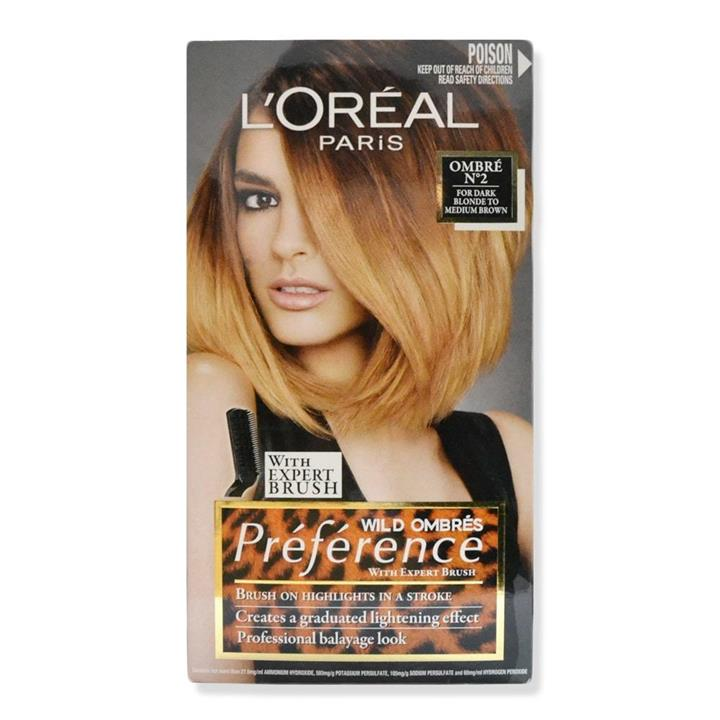 L'Oreal Preference Wild Ombres 02 For Dark Blonde To Medium Brown