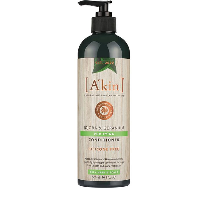 A'kin Purifying Jojoba & Geranium Conditioner (Oily) 500ml