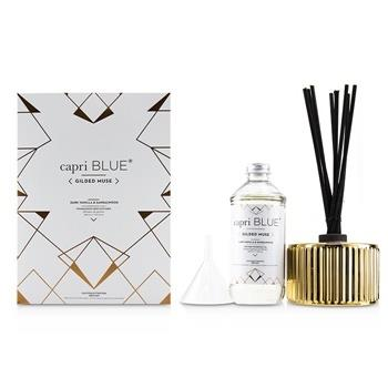 Capri Blue Gilded Muse Reed Diffuser - Dark Vanilla & Sandalwood 230ml/7.75oz Home Scent