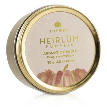 Thymes Aromatic Candle (Travel Tin) - Heirlum Pumpkin 70g/2.5oz Home Scent