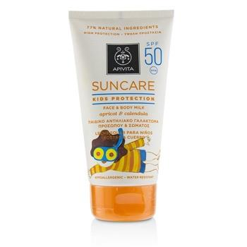 Apivita Suncare Kids Protection Face & Body Milk SPF 50 With Apricot & Calendula (Exp. Date: 12/2019) 150ml/5oz Skincare