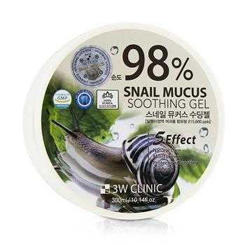 3W Clinic 98% Snail Mucus Soothing Gel 300ml/10.14oz Skincare