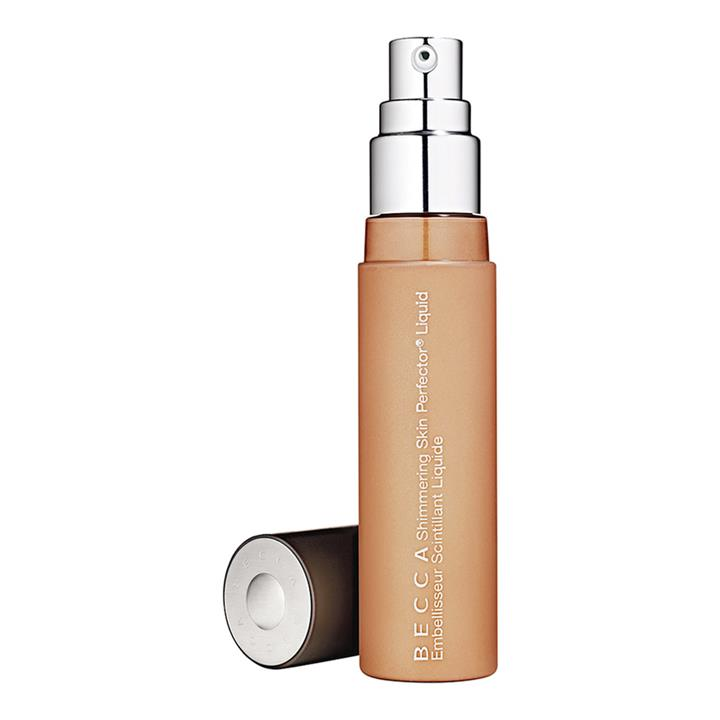 BECCA Shimmering Skin Perfector Liquid Highlighter Champagne Pop (soft gold with pinky-peach pearl)
