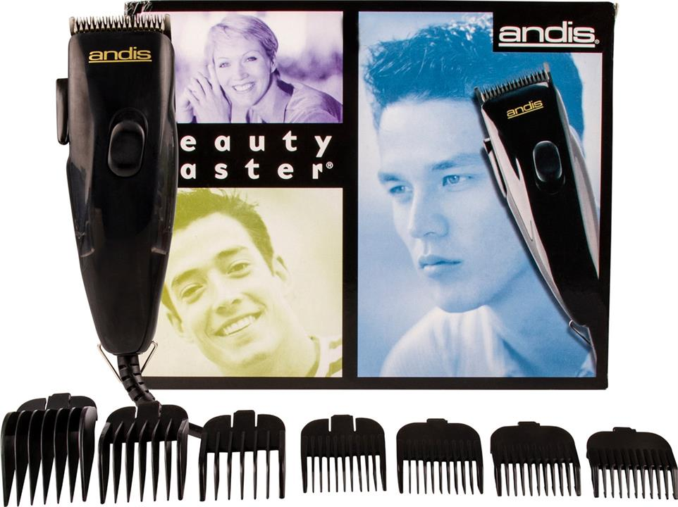Andis Beauty Master Clipper 7 Combs & Oil