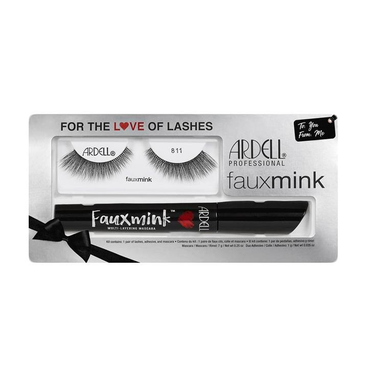 Ardell Professional Faux Mink 811 and Mascara with Lash Adhesive