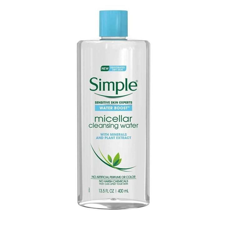 Simple Micellar Cleansing Water Dehyrdated Dry Skin Water Boost 400ml