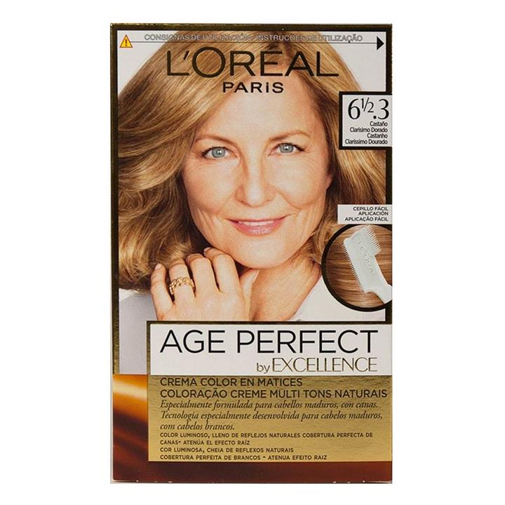 L'Oreal Age Perfect Permanent Hair Colour 6 1/2.3 Lightest Warm Golden Brown