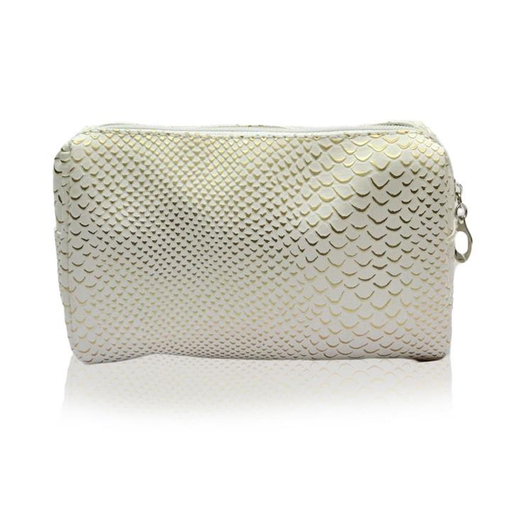 Night On the Town Makeup Bag White