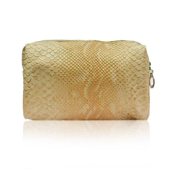 Night On the Town Makeup Bag Beige