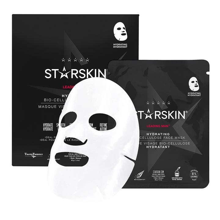 Starskin Leading Man™ Coconut Bio-Cellulose Second Skin Hydrating Face Mask 40g