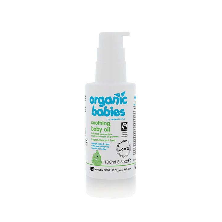 Green People Soothing Baby Oil Scent Free 100ml