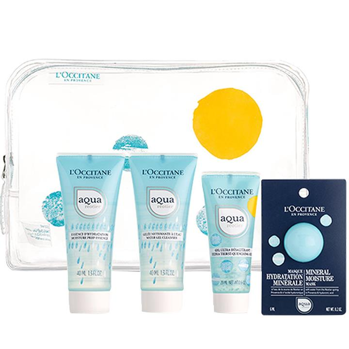 L'Occitane Aqua Reotier On The Go Travel Gel Collection