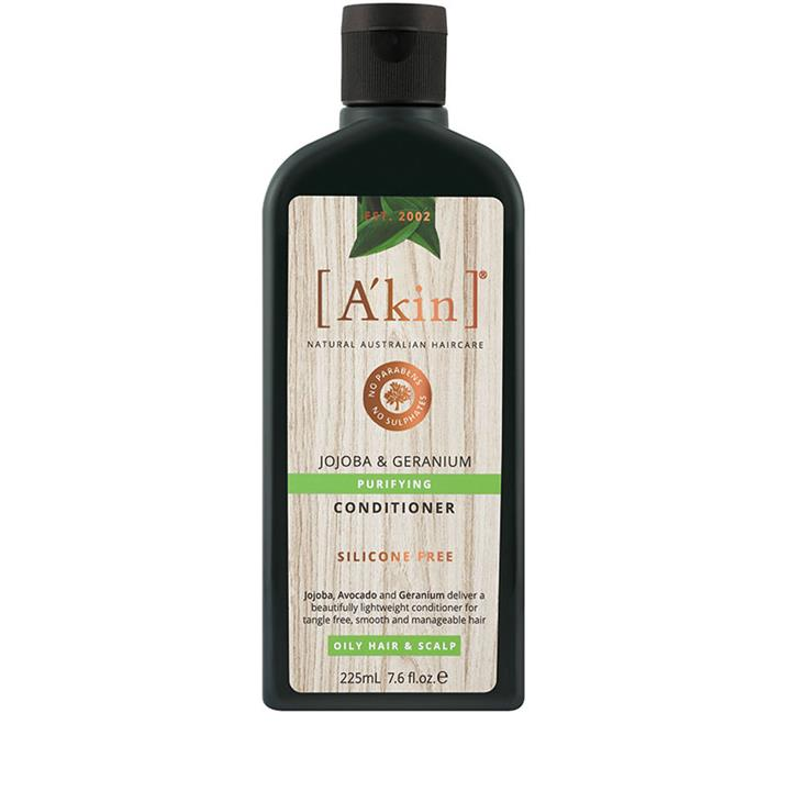A'kin Purifying Jojoba & Geranium Conditioner (Oily) 225ml