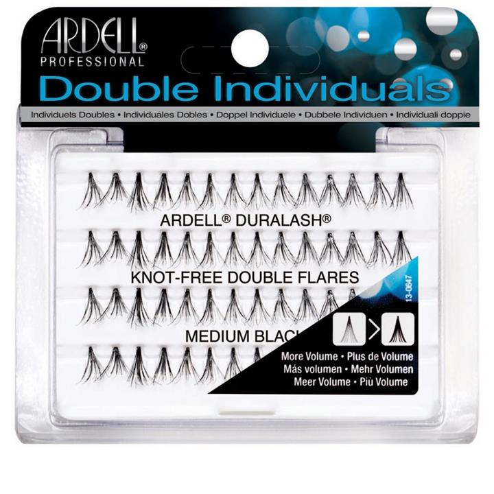 Ardell Double Individuals Knot Free Flares Medium Black