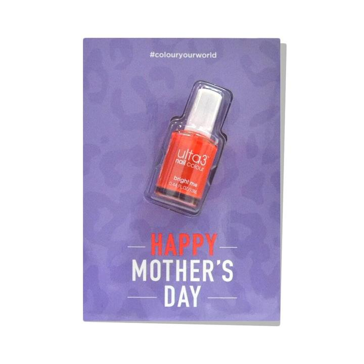 Ulta3 Colour Your World Mothers Day Card + Bright Me Nail Polish