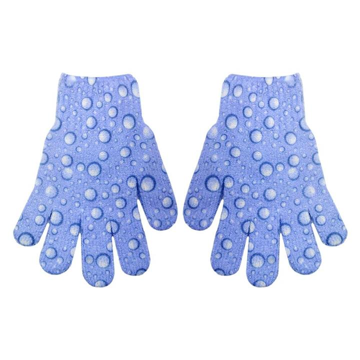 The Beauty Case Exfoliating Gloves Purple Bubbles