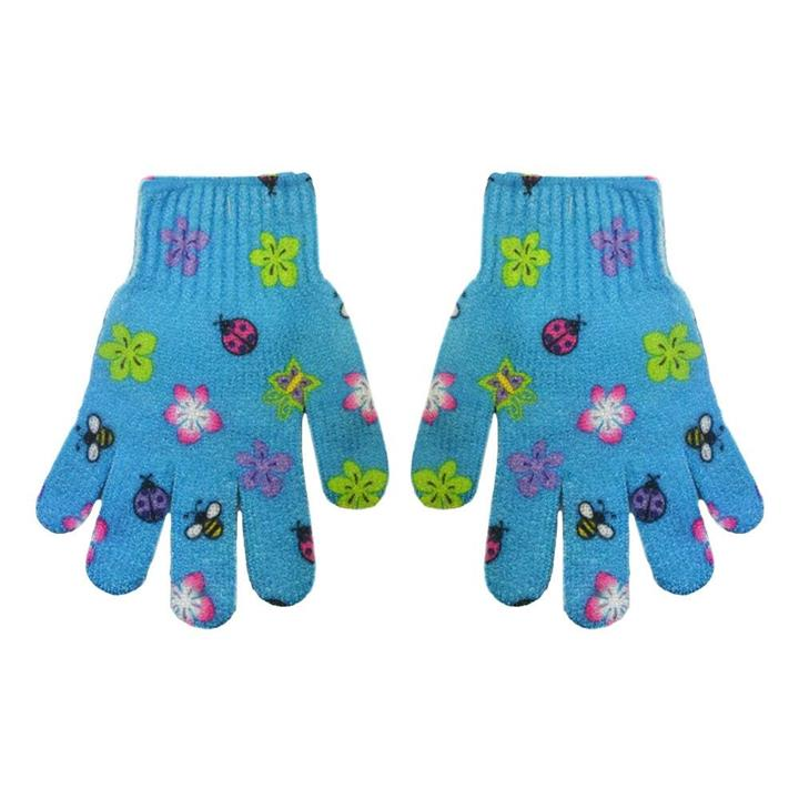 The Beauty Case Exfoliating Gloves Blue Flower