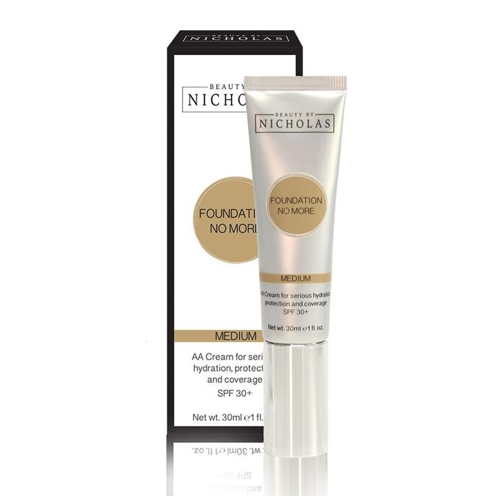 Beauty By Nicholas Foundation No More AA Cream SPF30+ Medium 30ml