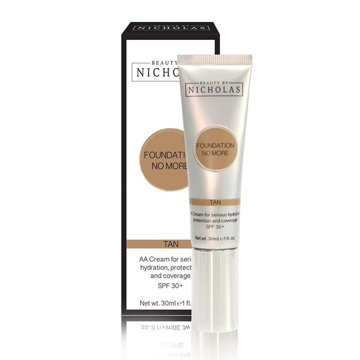Beauty By Nicholas Foundation No More AA Cream SPF30+ Tan 30ml