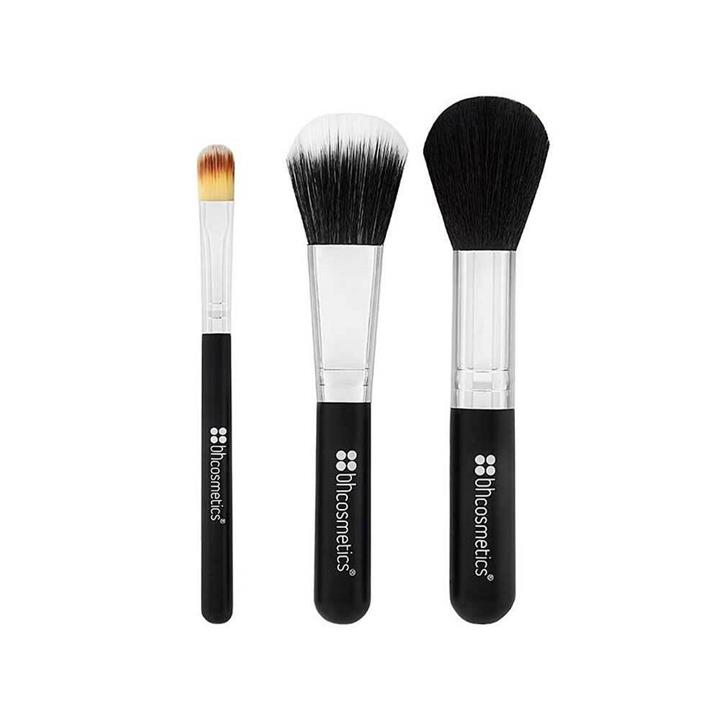 BH Cosmetics Face Essential To Go 3 Piece Brush Set