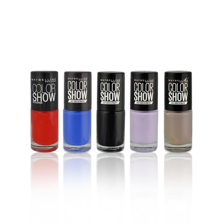 5x Maybelline Assorted Nail Polish Pack