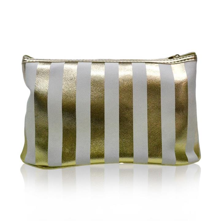 Get Your Glam On! Toiletries Bag White & Gold
