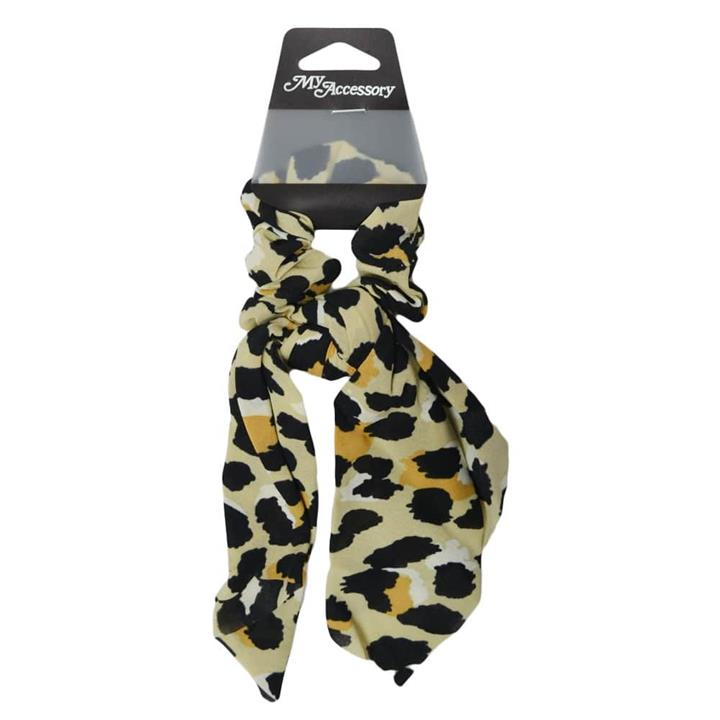 My Accessory Classic Leopard Print Chiffon Scrunchie With Tail