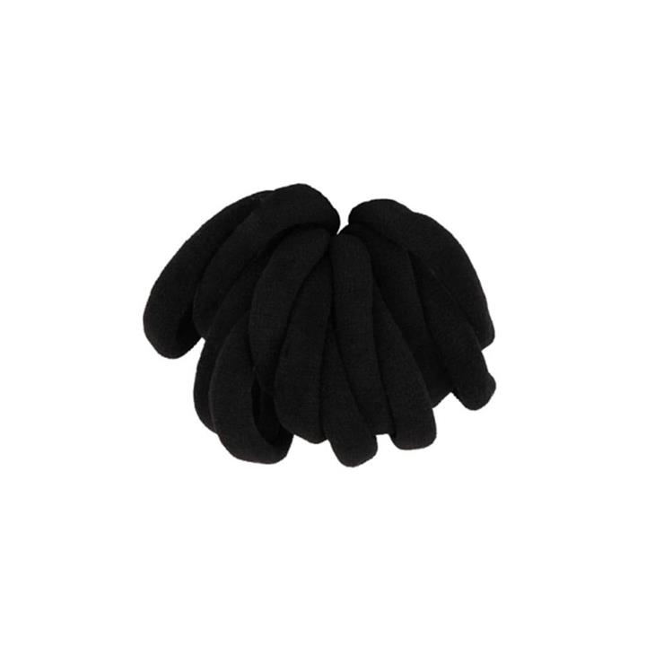 My Accessory Thick Black No Metal Elastic Hair Rings 12pk