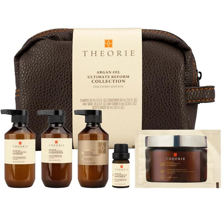 Theorie Argan Oil Reform Hair and Body Travel Pack 5pc