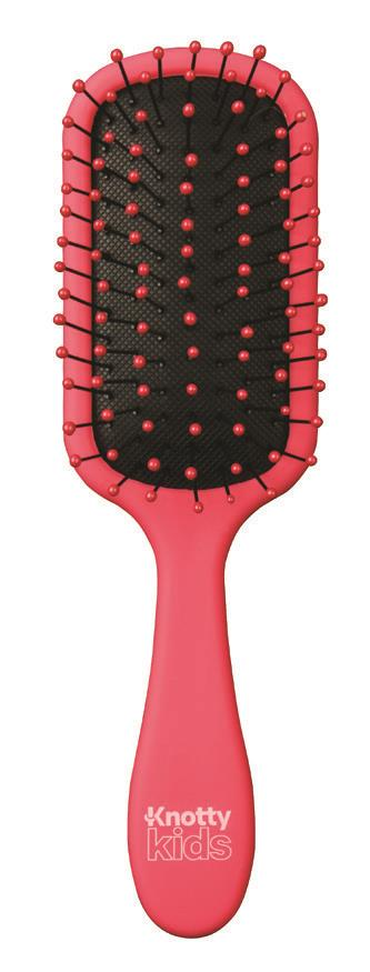 The Knot Dr Knotty Kids Detangling Brush Razzleberry (red)