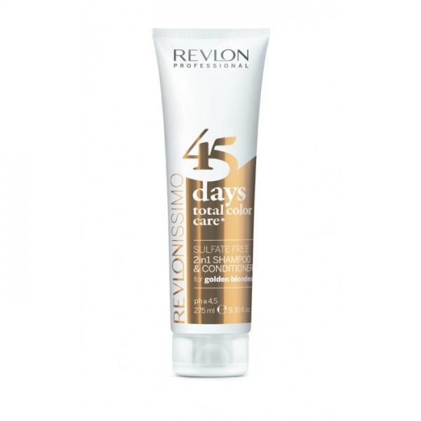 Revlon Professional 45 Days Total Color Care 2-in-1 Shampoo & Conditioner 275ml Golden Blondes