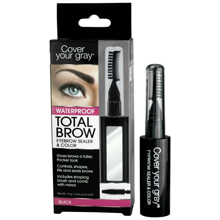 Cover Your Gray Total Brow Waterproof Eyebrow Sealer & Colour Black