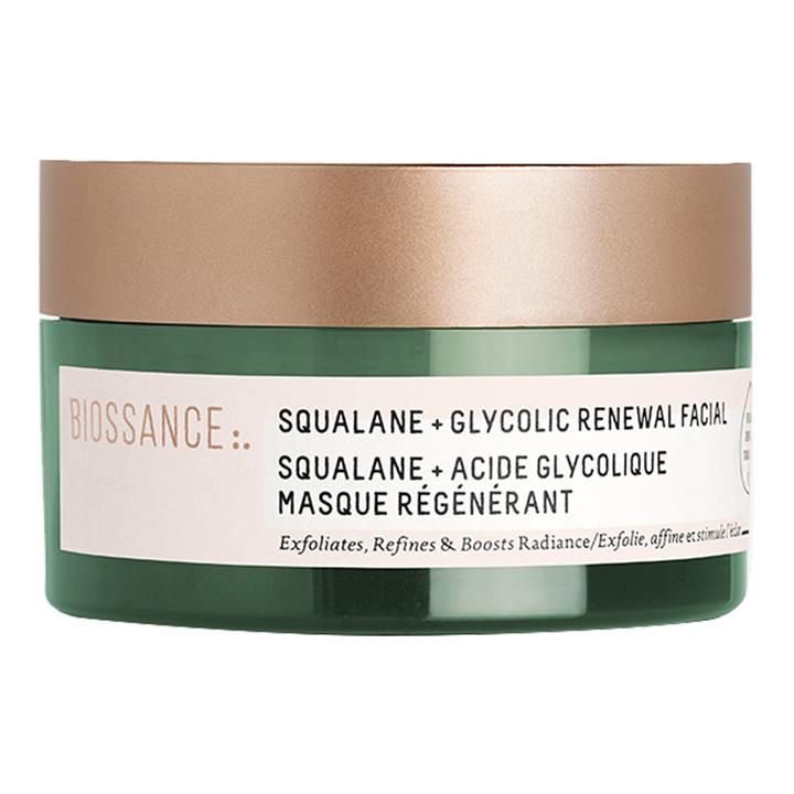 Biossance Squalane + Glycolic Renewal Facial Mask 60ml