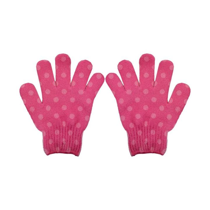 The Beauty Case Exfoliating Gloves Pink Spot