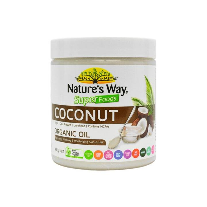 Nature's Way Super Foods Coconut Organic Oil 450g