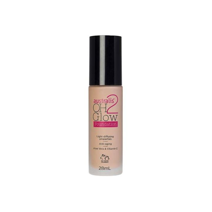 Australis OH2 Glow Foundation Natural Beige 28ml