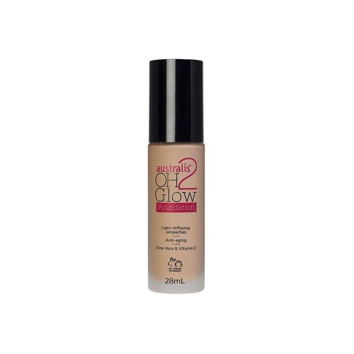 Australis OH2 Glow Foundation Natural Fawn 28ml