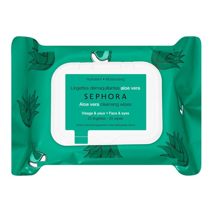 Sephora Collection Cleansing Face Wipes Aloe Vera
