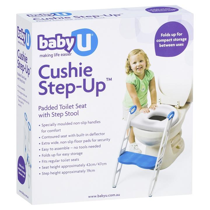 Baby U Cushie Step-Up Padded Toilet Seat with Step Stool