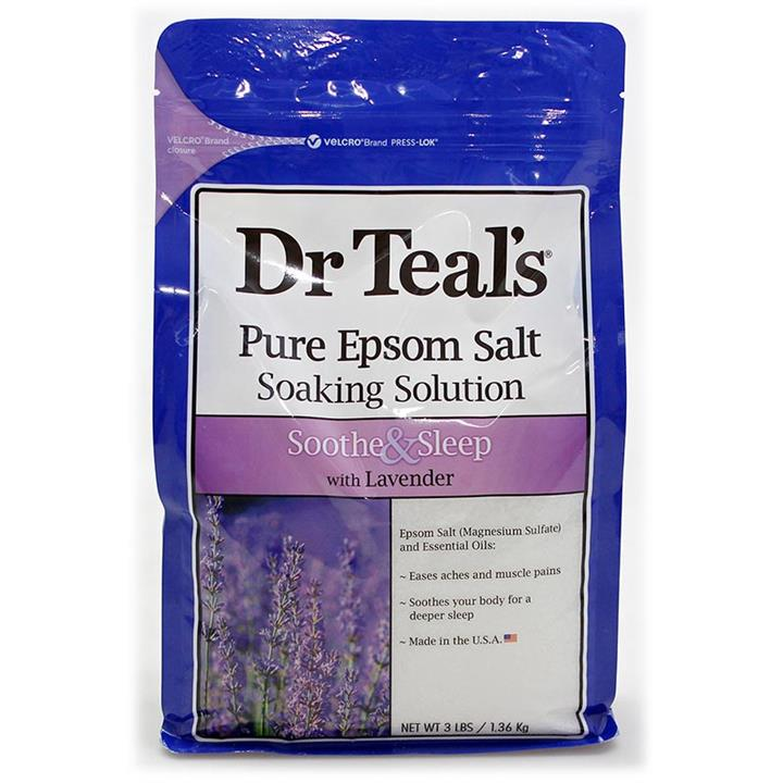 Dr Teal's Pure Epsom Salt Soothe & Sleep with Lavender 1.36kg