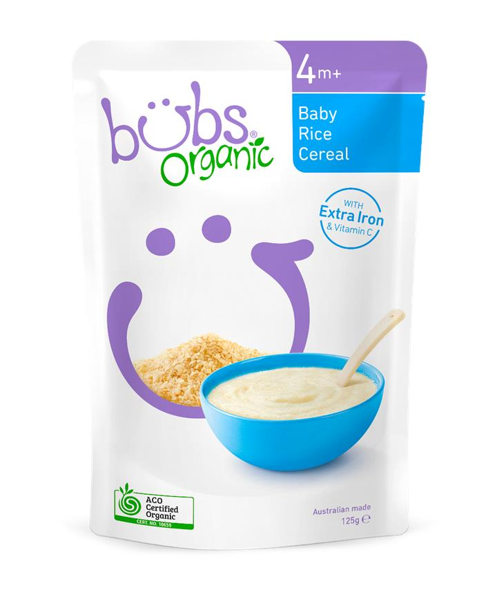 Bubs Baby Rice Cereal 125g