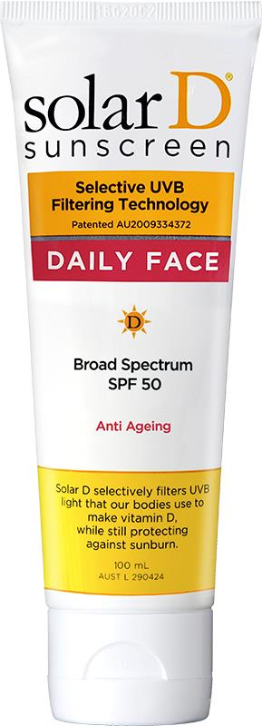 Solar D Daily Face SPF50 Sunscreen Tube 100mL