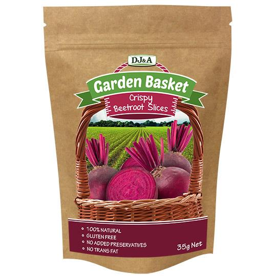 DJ&A Garden Basket Crispy Beetroot Slices 35g