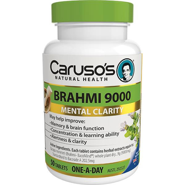 Caruso's Natural Health Brahmi 9000mg One A Day Tab X 50