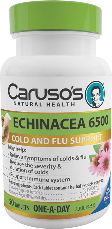 Caruso's Natural Health Echinacea 6500mg One A Day Tab X 50