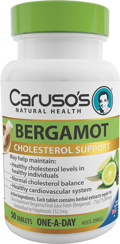 Caruso's Natural Health Bergamot One A Day Tab X 50