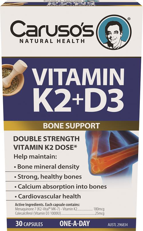 Caruso's Natural Health Vitamin K2 + D3 One A Day Cap X 30
