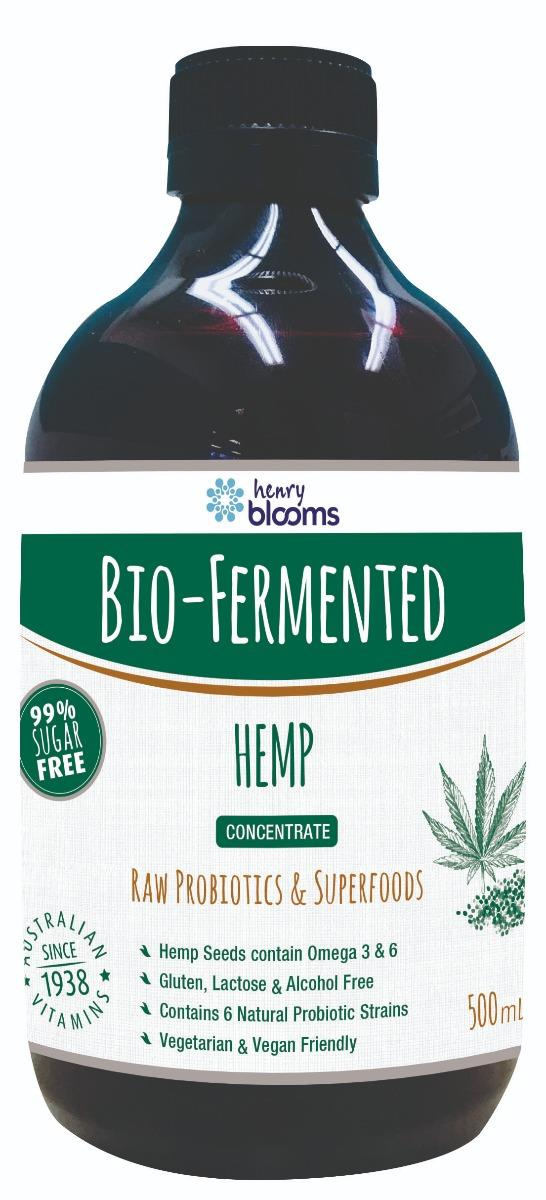 Henry Blooms Bio-Fermented Hemp 500ml