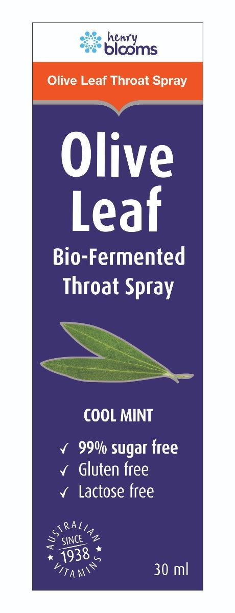 Henry Blooms Bio-Fermented Olive Leaf Throat Spray 30ml