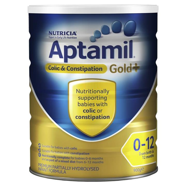 Aptamil Gold Plus Colic & Constipation Infant Formula (0-12 Months) 900g